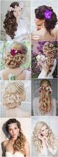unique wavy wedding hairstyles for long hair deer pearl flowers