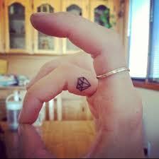 diamond tattoo on inside of finger tattoos piercings