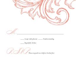 Wedding Invitation Acceptance Card Damask Wedding Response Card