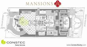 mansions floor plans mansions at acqualina floor plans