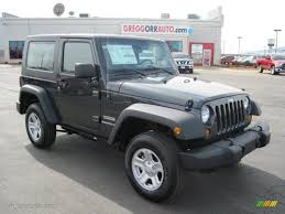 jeep wrangler grey 2010 dark charcoal pearl jeep wrangler sport 4x4 27169365 photo