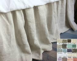 White Ruffle Bed Skirt Ruffled Bed Skirt Etsy