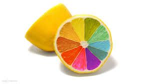 fruits orange fruit rainbow color half cut desktop background