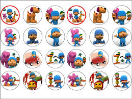 pocoyo cake toppers 24 pocoyo edible wafer paper rice cup cake toppers tops