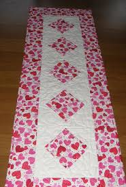 valentines day table runner s day quilted table runner table runner quilt