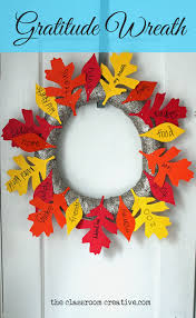 gratitude wreath craft with free leaf templates there s still