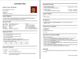 Resume Sample For It Jobs by 100 Fresher Resume Sample Resume Templates For Freshers It
