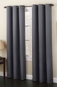 white grommet curtains interior design