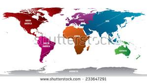 map of continents world continents map vector free vector stock