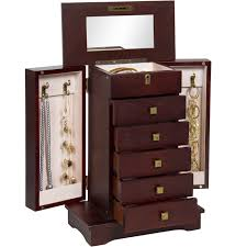best organizer best choice products handcrafted wooden jewelry box organizer wood
