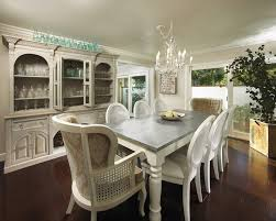 White Distressed Dining Room Table White Dining Table With Distressed Grey Top For The Home