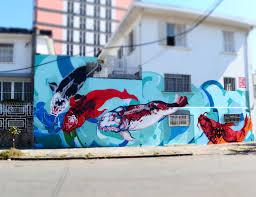 japanese koi fish decorate this wall in sao paulo thanks to japanese koi fish decorate this wall in sao paulo thanks to brazilian japanese street artist titi freak