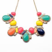 multi coloured necklace images Larca bib multicolor crystal statement necklace by shamelessly jpg