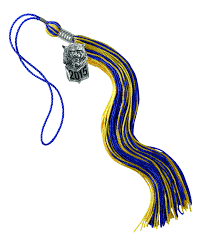 grad tassel mascot tassel done in your school custom colors