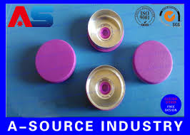 Light Purple Color by Purple Color 20 Mm Flip Off Cap With Aluminum Plastic Material Iso