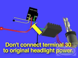 hid xenon headlight electrical retrofit youtube