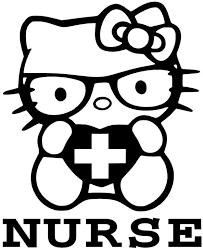 hellokitty vinyl decal window sticker nurse 3 99