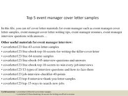 Event Manager Sample Resume by Event Manager Cover Letter Sample With Event Manager Cover Letter
