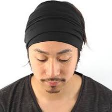 asian headband men s wide bandana headbands available in four sizes to fit any
