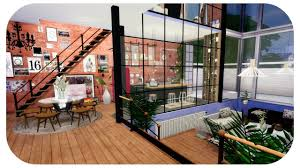 the sims 4 house build artistic organic studio loft speed