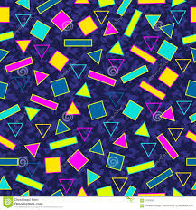 retro 80s seamless pattern background stock vector image 57384505