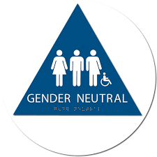 ada gender neutral restroom sign 8x8 alpha dog ada signs
