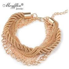 gold braided rope necklace images Buy charm bracelet for women fashion jewelry gold jpg