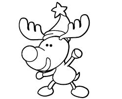 dibujos navideñas para colorear imagenes de renos navideños para colorear para niños