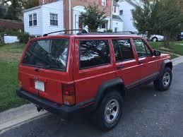 jeep open roof file jeep cherokee xj 1988 u20131996 sport 4 door in red 2of2 jpg