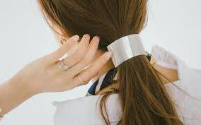 hair barrette 2018 new fashion matte gold hair clip barrette wholesale brass