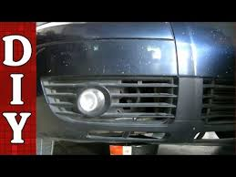 vw touareg fog light assembly how to remove and replace a fog light and bulb vw passat audi a4