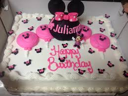 cake from costco that was minnie fied minnie mouse party