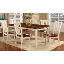 White Table Set - white u0026 cherry 5 piece dining set dover rc willey furniture store