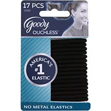 goody hair goody ouchless elastic hair bands no metal black