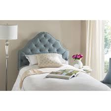 Tufted Linen Headboard by Melissa Hawks Gray Wood Tufted Linen Headboard