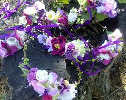 wedding flowers purple wedding flower crown etsy