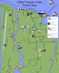 Chesapeake Bay Map Map Tangier Island