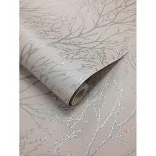 i love wallpaper shimmer tree wallpaper mushroom silver