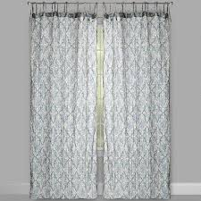 Tie Top White Curtains The Naya Collection Taupe Cotton Crinkle Tie Top Window Curtains