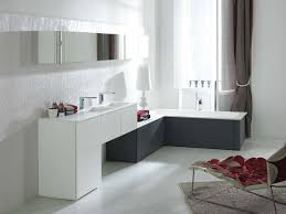composición mueble de baño next de porcelanosa lacado en blanco