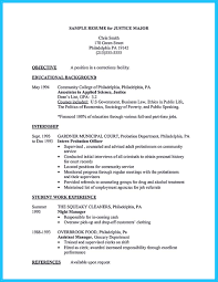 Resume Goal Statement Criminal Justice Resume Objective Examples Criminal Justice