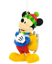 hallmark disney mickey mouse holding skates ornament the