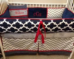 chevron crib bedding etsy