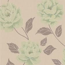colours ella spring green floral wallpaper departments diy at b u0026q