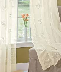 sheer curtains divine sheer panel country curtains