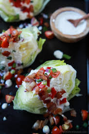 light and easy dinner ideas classic wedge salad with light blue cheese dressing easy healthy