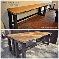 Oak Bar Table White Diy Convertible Bar Pub Table Diy Projects