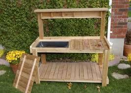 Outdoor Potting Bench With Sink Download Best Potting Bench Solidaria Garden