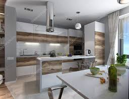 modern open concept kitchen modern kitchen study 3d render u2014 stock photo threedicube 99169176