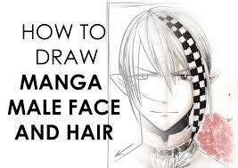 how to draw manga male head shape u0026 hair youtube